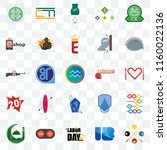 set of 25 transparent icons... | Shutterstock .eps vector #1160022136