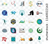 set of 25 transparent icons... | Shutterstock .eps vector #1160022163