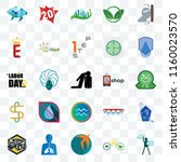 set of 25 transparent icons... | Shutterstock .eps vector #1160023570