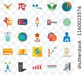 set of 25 transparent icons... | Shutterstock .eps vector #1160023576