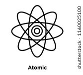 atomic icon vector isolated on... | Shutterstock .eps vector #1160025100