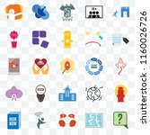 set of 25 transparent icons... | Shutterstock .eps vector #1160026726