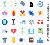 set of 25 transparent icons... | Shutterstock .eps vector #1160026813