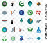 set of 25 transparent icons... | Shutterstock .eps vector #1160026939