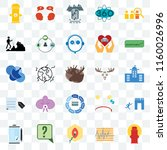 set of 25 transparent icons... | Shutterstock .eps vector #1160026996