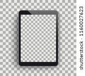 black tablet pc with blank... | Shutterstock .eps vector #1160027623