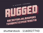 rugged vector stylish 3d... | Shutterstock .eps vector #1160027743