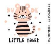 tiger baby cute print. sweet... | Shutterstock .eps vector #1160028616