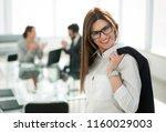 confident business woman... | Shutterstock . vector #1160029003
