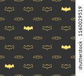 seamless pattern with bats.... | Shutterstock .eps vector #1160029519