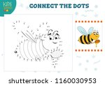 connect the dots kids game... | Shutterstock .eps vector #1160030953