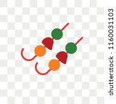 kebab vector icon isolated on... | Shutterstock .eps vector #1160031103