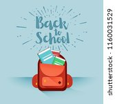 template for back to school | Shutterstock .eps vector #1160031529