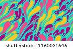 vector colored blots  seamless... | Shutterstock .eps vector #1160031646
