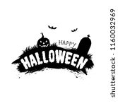 happy halloween. vector holiday ... | Shutterstock .eps vector #1160032969