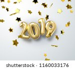 happy new 2019 year. holiday... | Shutterstock .eps vector #1160033176