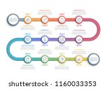 colorful timeline infographics... | Shutterstock .eps vector #1160033353