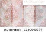 vintage baroque pattern set... | Shutterstock .eps vector #1160040379