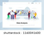 data analysis modern flat... | Shutterstock .eps vector #1160041600