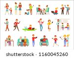people being obsessed with... | Shutterstock .eps vector #1160045260