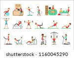 people member of the fitness... | Shutterstock .eps vector #1160045290