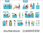 bank service professionals and... | Shutterstock .eps vector #1160045350
