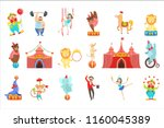 circus related objects and... | Shutterstock .eps vector #1160045389