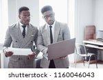 modern businessman at work. two ...   Shutterstock . vector #1160046043