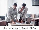 modern businessman at work. two ...   Shutterstock . vector #1160046046