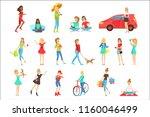 women and girls different... | Shutterstock .eps vector #1160046499