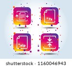 archive file icons. compressed...   Shutterstock .eps vector #1160046943