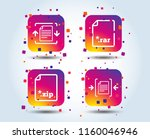 archive file icons. compressed...   Shutterstock .eps vector #1160046946
