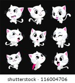 Stock vector cute kitty cat poses 116004706