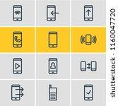 illustration of 12 telephone... | Shutterstock . vector #1160047720
