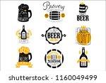 craft brewery set of logo... | Shutterstock .eps vector #1160049499
