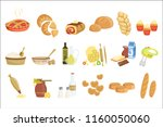 bakery and pastry products... | Shutterstock .eps vector #1160050060
