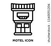 motel icon vector isolated on... | Shutterstock .eps vector #1160051206