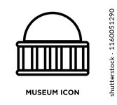 museum icon vector isolated on... | Shutterstock .eps vector #1160051290