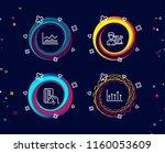 set of trade infochart  payment ... | Shutterstock .eps vector #1160053609
