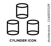 cylinder icon vector isolated... | Shutterstock .eps vector #1160055109