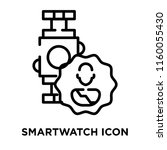 smartwatch icon vector isolated ... | Shutterstock .eps vector #1160055430