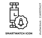 smartwatch icon vector isolated ... | Shutterstock .eps vector #1160055619