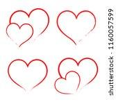 heart draw handmade icon symbol ... | Shutterstock .eps vector #1160057599