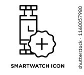 smartwatch icon vector isolated ... | Shutterstock .eps vector #1160057980