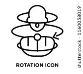 rotation icon vector isolated... | Shutterstock .eps vector #1160058019