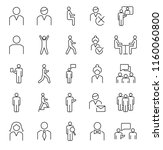 person symbols  basic outline... | Shutterstock .eps vector #1160060800