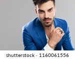close up of attractive smart... | Shutterstock . vector #1160061556