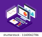 business strategy. data... | Shutterstock .eps vector #1160062786