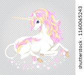 unicorn with stars and glitter...   Shutterstock .eps vector #1160065243