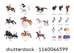 collection of various horse... | Shutterstock .eps vector #1160066599